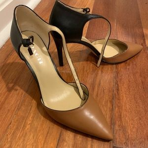 Coach two-toned heels with ankle strap